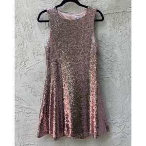 Pink Sequin Party Dress (juniors)